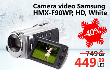 Cameră video Samsung Model HMX-F90WP HD White