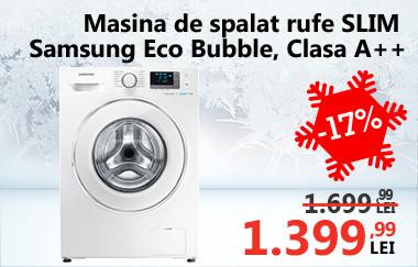 Mașină de spălat rufe SLIM Samsung Eco Bubble WF60F4E5W2W