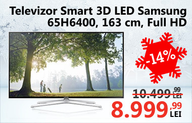 Televizor Smart 3D LED Samsung 65H6400